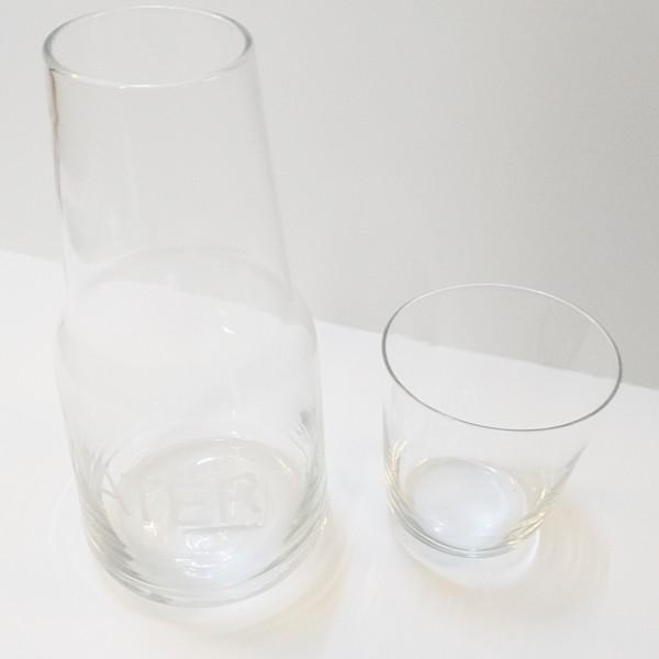 Bouteille à eau 1 litre avec verre à eau