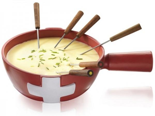 Caquelon à fondue 1.5L, Rouge, Boska