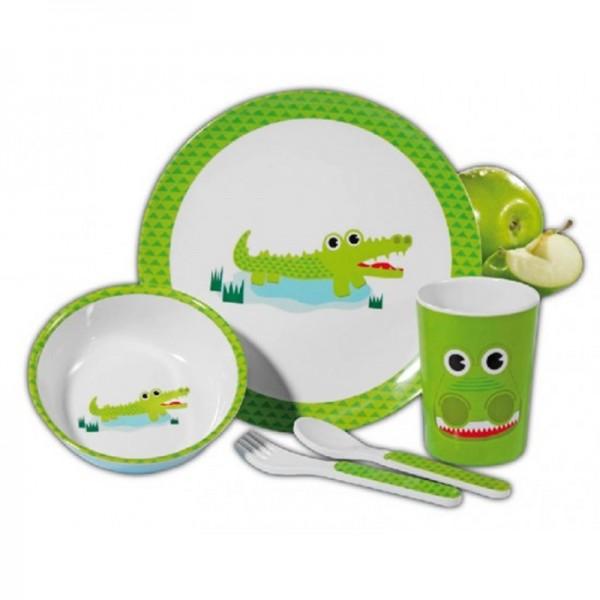 service de vaisselle enfants, CROCO,15pc